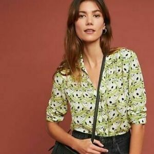 NEW Anthropologie Colloquial Pintucked Buttondown